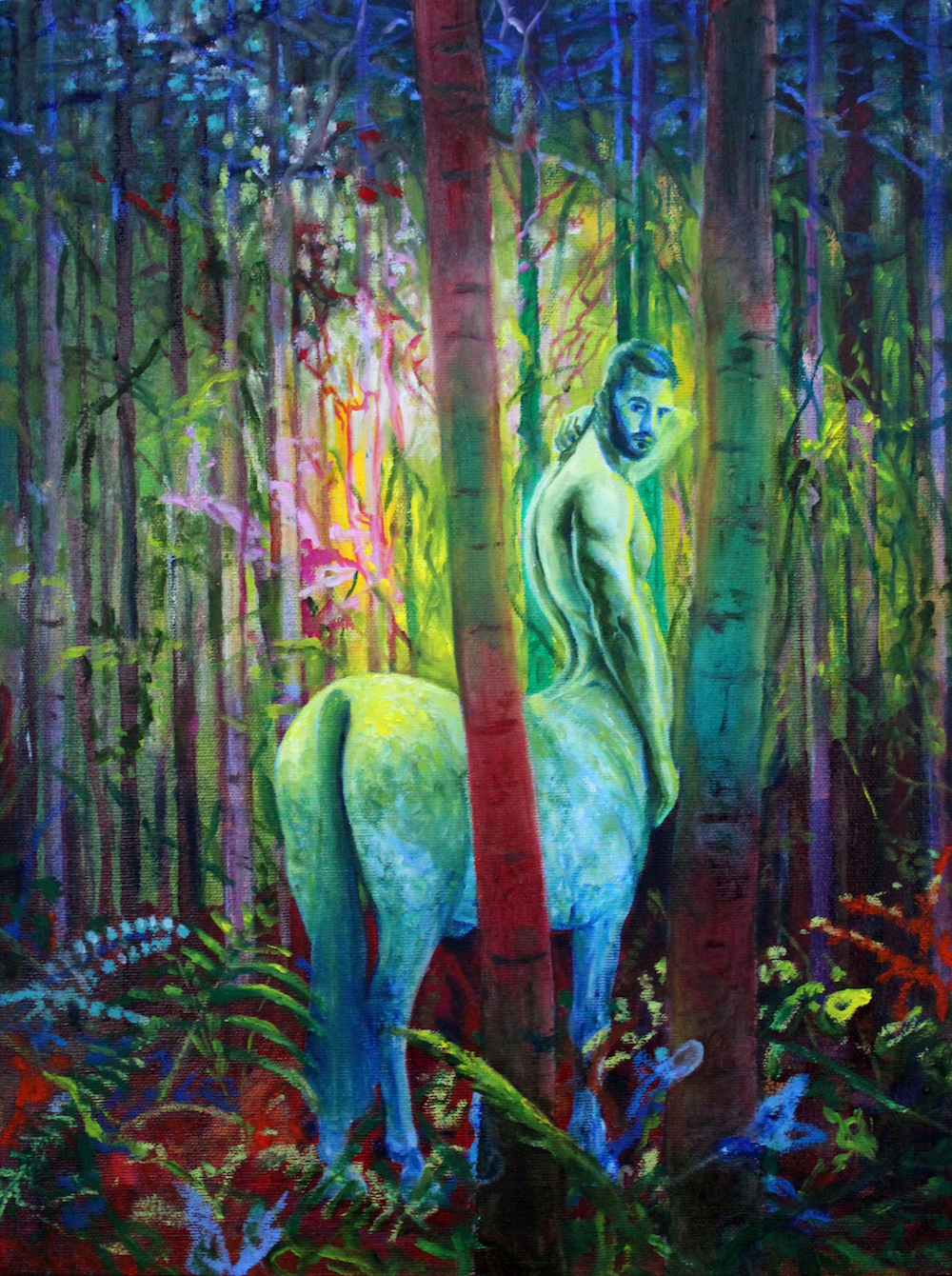 Mark Liam Smith_Green Stallion_oil on canvas_16x12 inches_2017.jpg