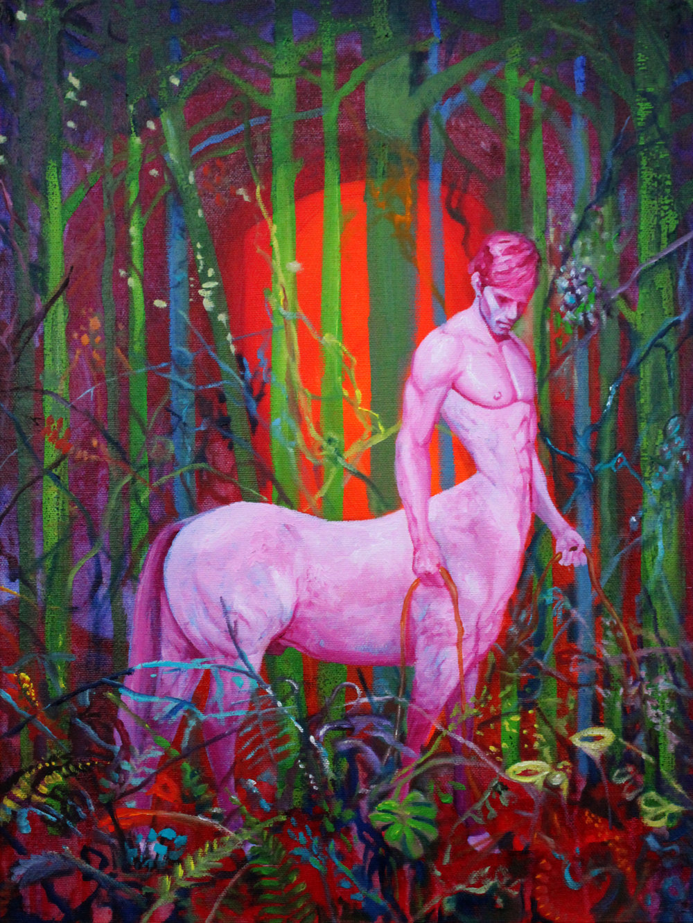Mark Liam Smith_Magenta Stallion_oil on canvas_16x12 inches_2017.jpg