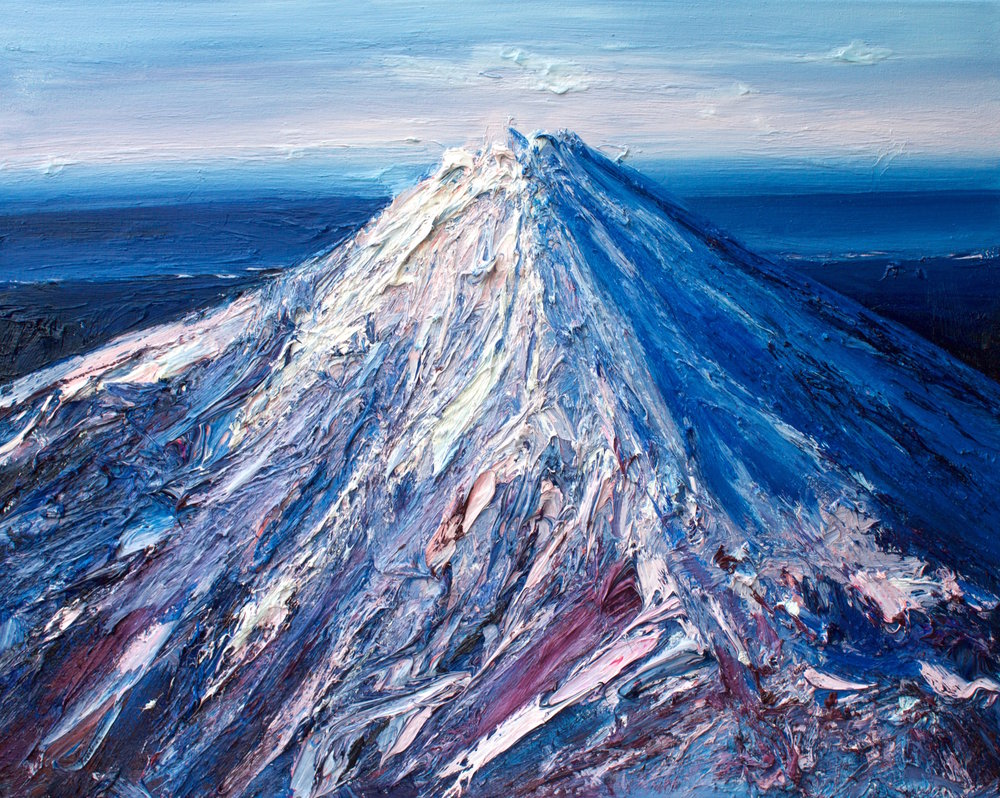 Holly Zandbergen Mt Taranaki in Winter , 2017 oil on canvas 80 x 100 cm.jpg