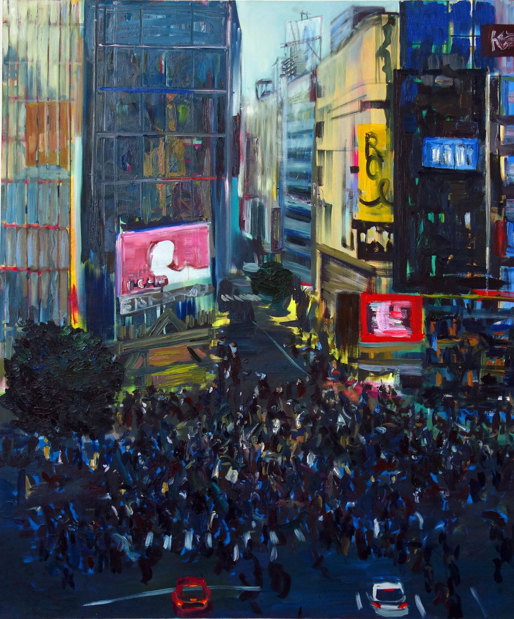 concrete jungle contemporary painting