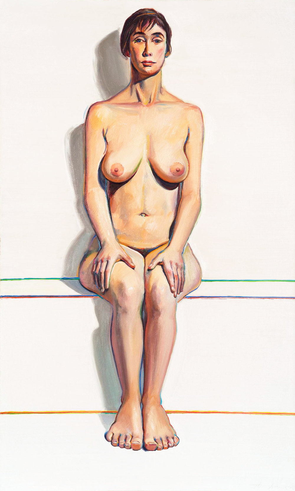 Wayne Thiebaud, Nude (Seated Nude), 1963 Oil on canvas 60 x 36 in. Courtesy: Allan Stone Projects, New York © Wayne Thiebaud/Licensed by VAGA, New York, NY