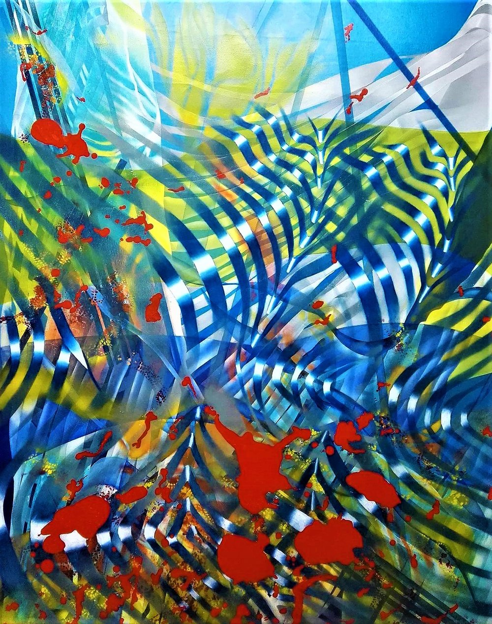 Mariu F. Lacayo, QUANTUM LANDSCAPE, oil on canvas, 115 cm. x 148 cm. 2017.jpg