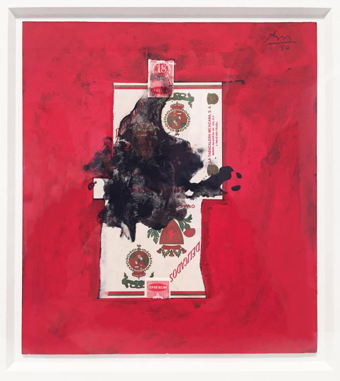 Robert Motherwell,  Delicados , 1980, Acrylic and collage on board, 10 x 8 in
