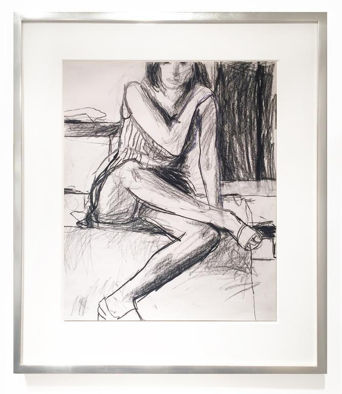 Richard Diebenkorn,  Untitled , c. 1967, Charcoal, ballpoint pen and graphite on paper, 16.9 x 13.8 in