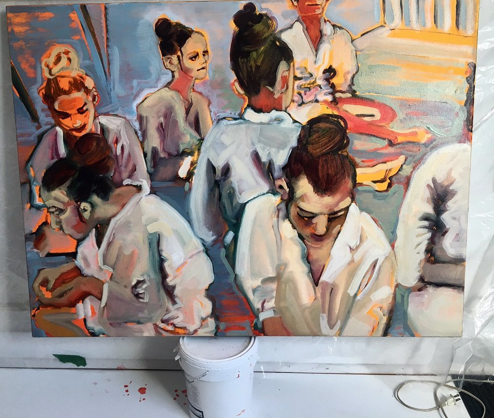 Work 5, The Wait, oil on canvas, 2015.jpg