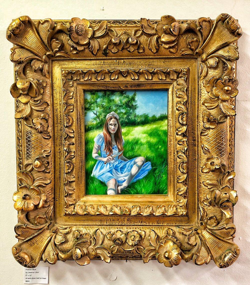 Powder blue framed, oil on linen, 8 x 10 by Jessica Libor 2017.JPG
