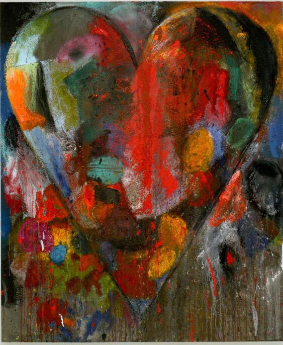 Jim DINE  Still-Start The Western Fire, 2010  Acrylic, charcoal and sand on linen  72 1/8 x 60 1/4 inches