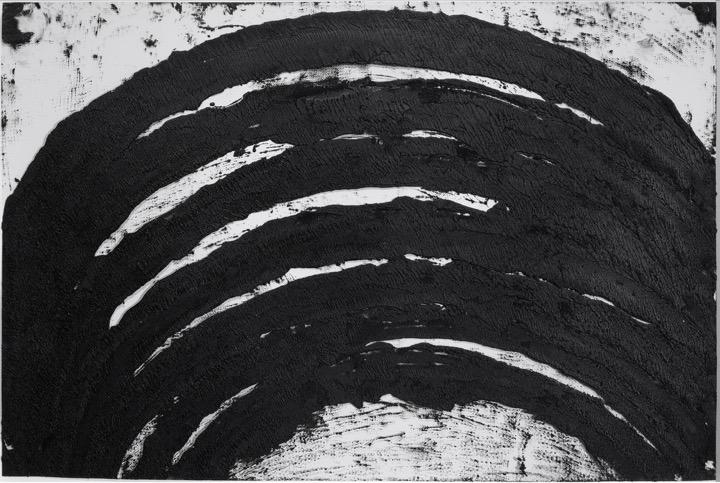 Richard SERRA  P&E VIII, 2007  Paintstick on mylar  26 1/2 x 40 inches