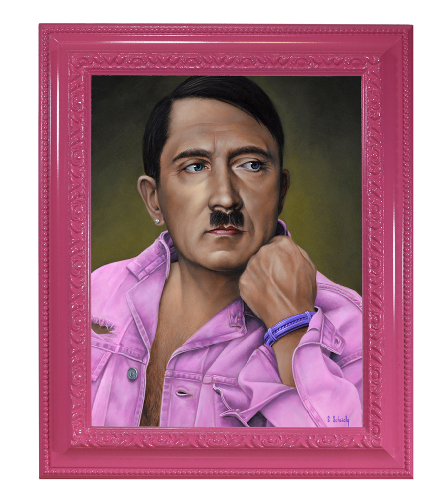 Scott Scheidly, Adolf Hitler (framed), 2018.jpg
