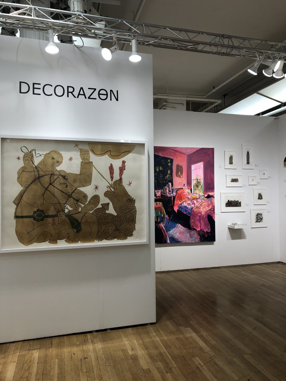 My 6 ft. painting at Affordable Art Fair in NYC last month (right), total dream come true!