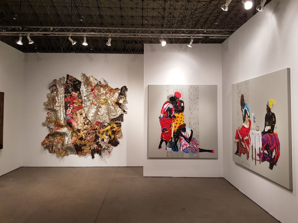 Installation view of October Gallery booth at EXPO Chicago, 2018. Courtesy of the October Gallery.