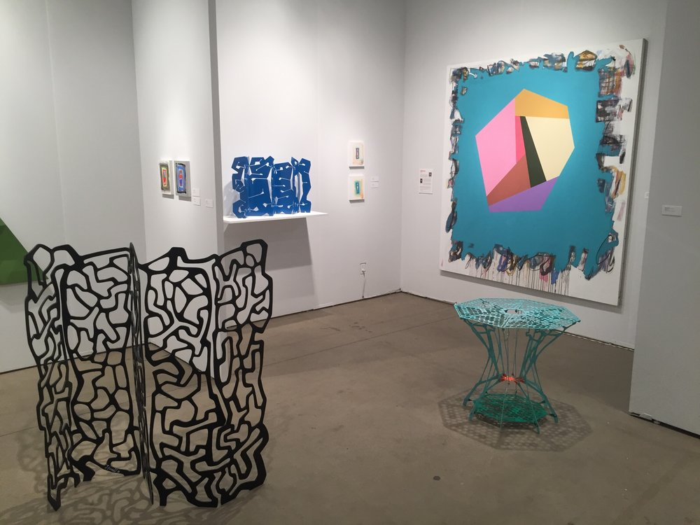 Installation view of Nancy Hoffman Gallery booth at EXPO Chicago, 2018. Image courtesy of Nancy Hoffman Gallery.