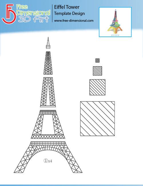 Templates free dimensional 3d art eiffel tower templateg maxwellsz