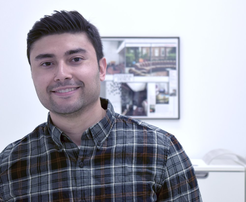 Jonathan Vega , Lead Project Designer, graduated from Temple University with a BArch in 2013 and a Masters in Landscape Architecture in 2016. His experience has included practical focus on contracting and landscape construction that is consistent with his architectural design. Jonathan's work stresses the integration of all aspects of design and construction, allowing for strategic planning to insure relevance to ecological value and overall sustainability.
