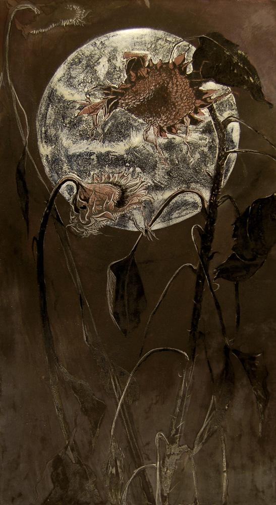 """October"" pen, India ink , watercolor & gouache on paper, 14""x 30"",  $2500.00"