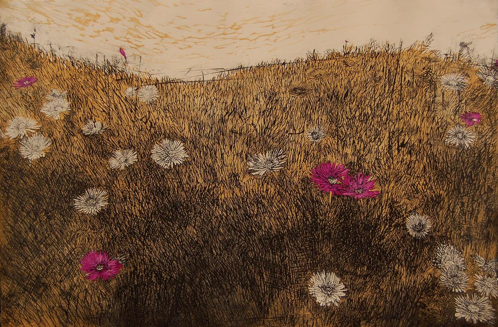 Sea Ranch Flowers (Ocher)