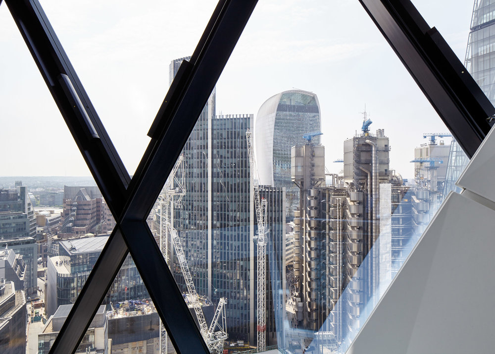 VIEW FROM THE GHERKIN, LONDON