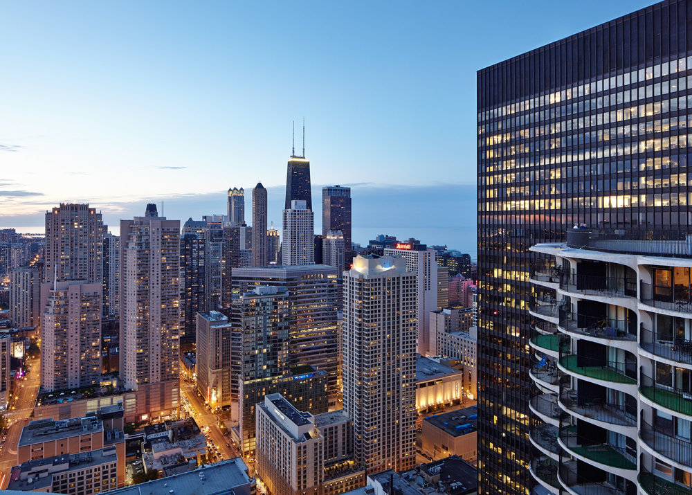 VIEW FROM MARINA CITY, CHICAGO