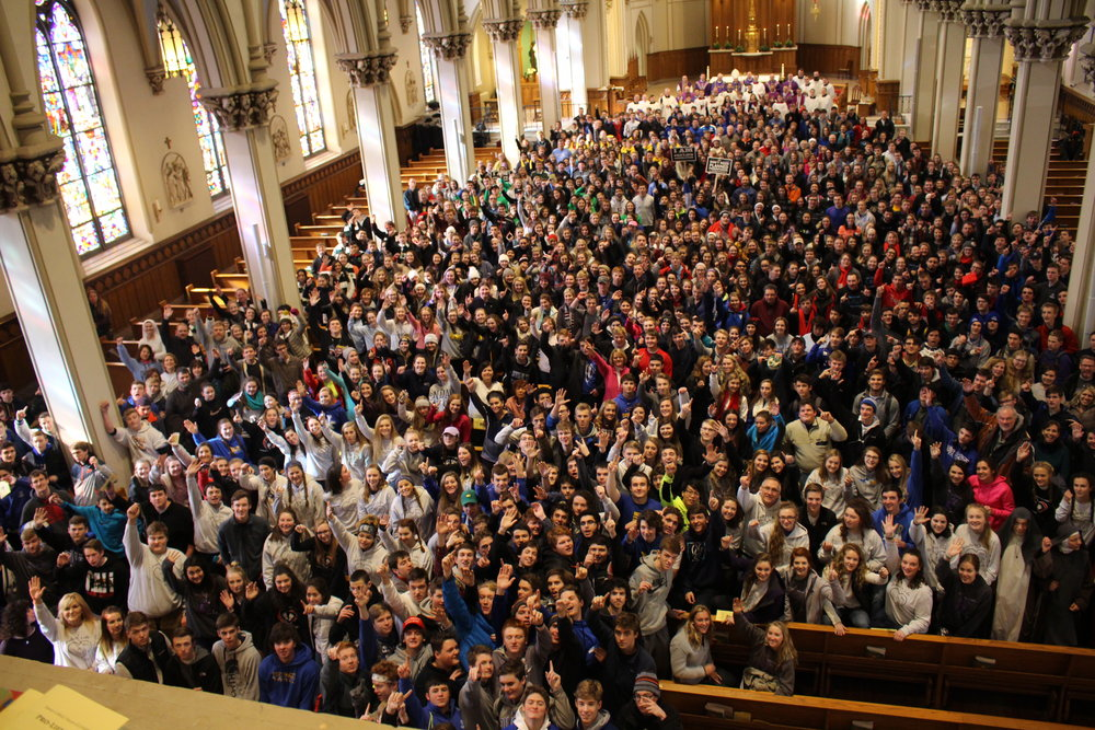 January 2017 File photo of students from the Diocese of Covington preparing to March for Life in Washington, D.C.