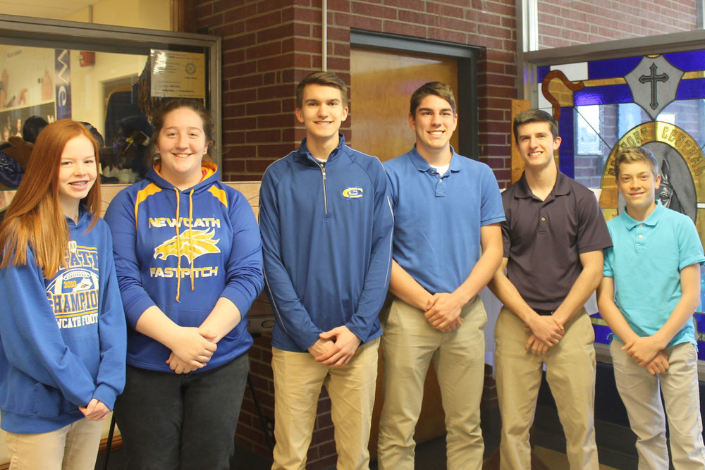 The following juniors selected as Governor's Scholars:  Grace Hatfield - daughter of Tony and Amy Hatfield of St. Joseph Parish  Mary (Maisy) Miglio – daughter of Tony and Betsy Miglio of St. Bernard Parish  Dylan Johnson - son of Paul and Lisa Johnson of St. Joseph Parish  Damian Schwarber  - son of Doug and Maureen Schwarber of St. Catherine Parish  Luke Grothaus  - son of Jim and Patty Grothaus of St. Therese Parish  Joseph Whelan – son of Mike and Christine Whelan of St. Joseph Parish
