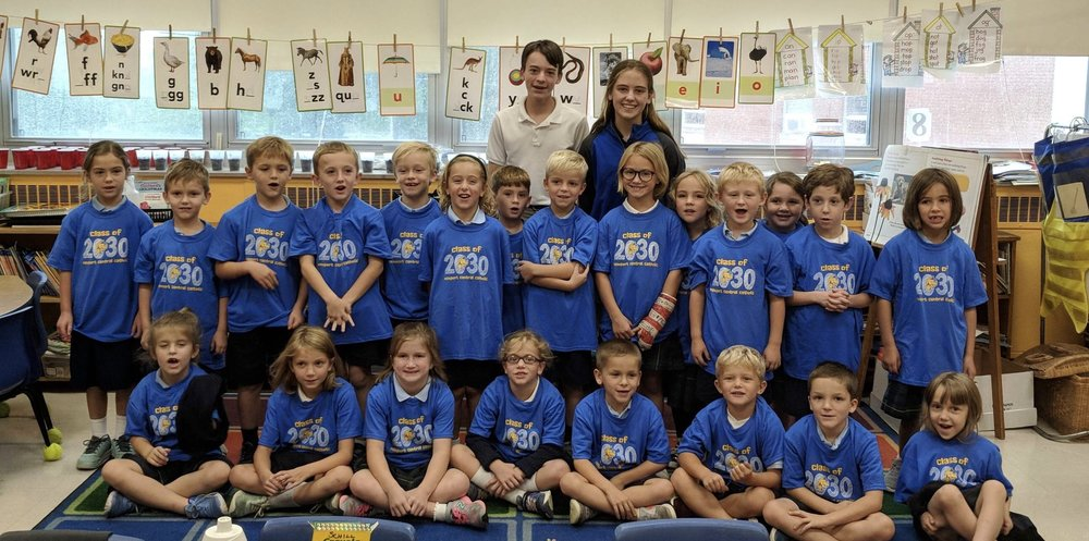 First Grader Students at St. Catherine of Siena School.