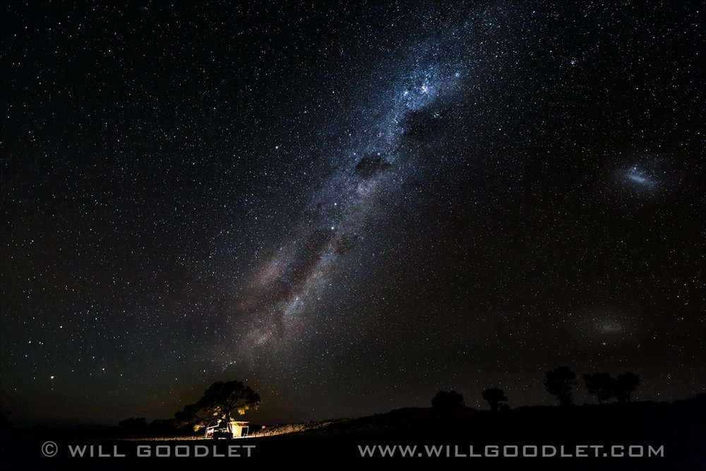 Namirand Nature Reserve, Milky Way Stars over campsite.