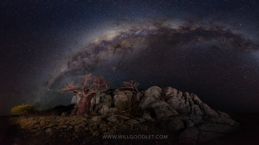 Stars over Kubu. Canon 5D Mark iii + Sigma 14-24mm F2.8 - ISO12800, F2.8, 10 seconds (Stitched stacks of 4)