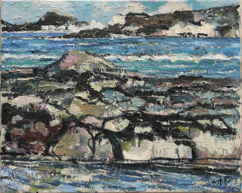 Rocks and Sea, Mayo, 2016, oil on canvas, 41 x 51 cm