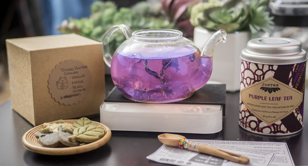 Purple Leaf Tea + few drops of Meyer Lemon