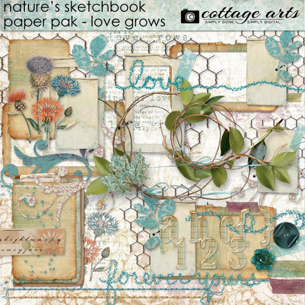 CottageArts NaturesSketch LoveGrows Elements