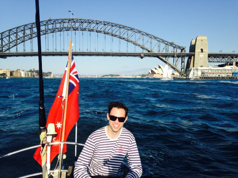 Sailing in Sydney (I won a Villanova Study Abroad best view photo)