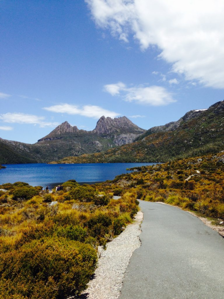 This is cradle mountain in Tasmania. I started there and hiked all the way to the top.