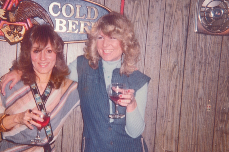 Joyce (left) and Rita before a David Bowie concert, 1975