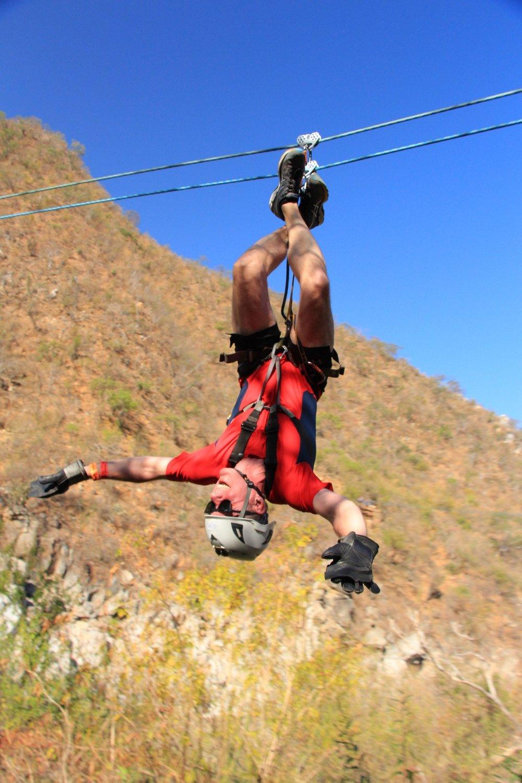 Glen on the zipline!