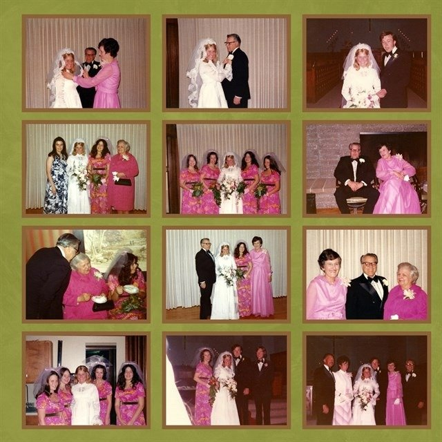 My cousin and her husband's wedding 44 years ago!