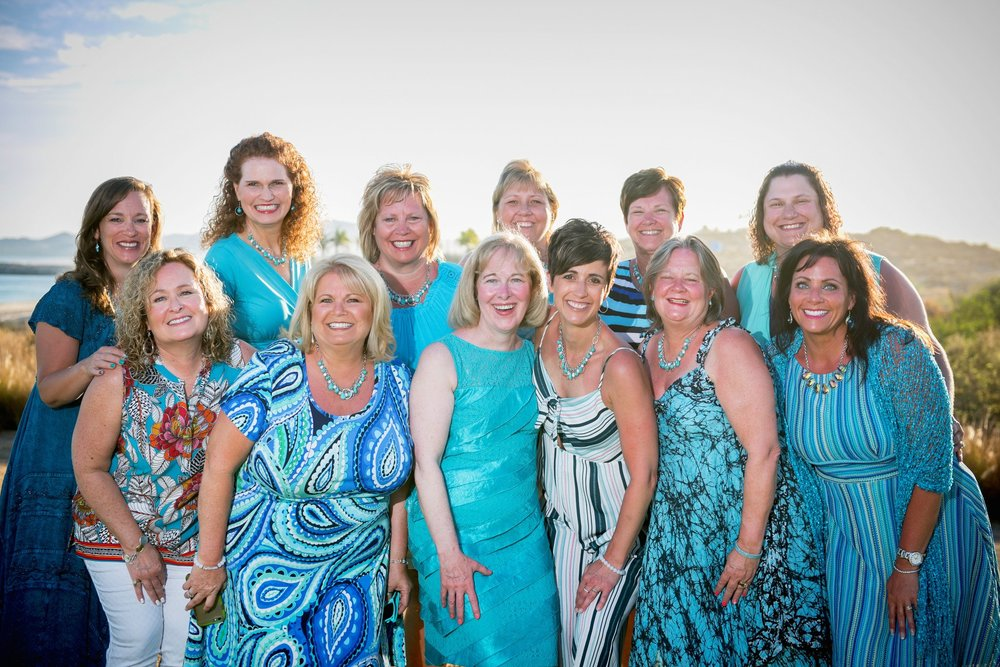 Several Team Empower Leaders. Left to right: Marlisa, Marianna, Madelyn, Tami, Pam, Cheryl, Melody, Sheri, Kim, Sheralyn, Lori, Bridget