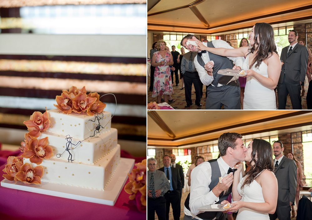 Venue: Red Rock Country Club | Florals: Enchanted Florist | Cake: Las Vegas Custom Cakes
