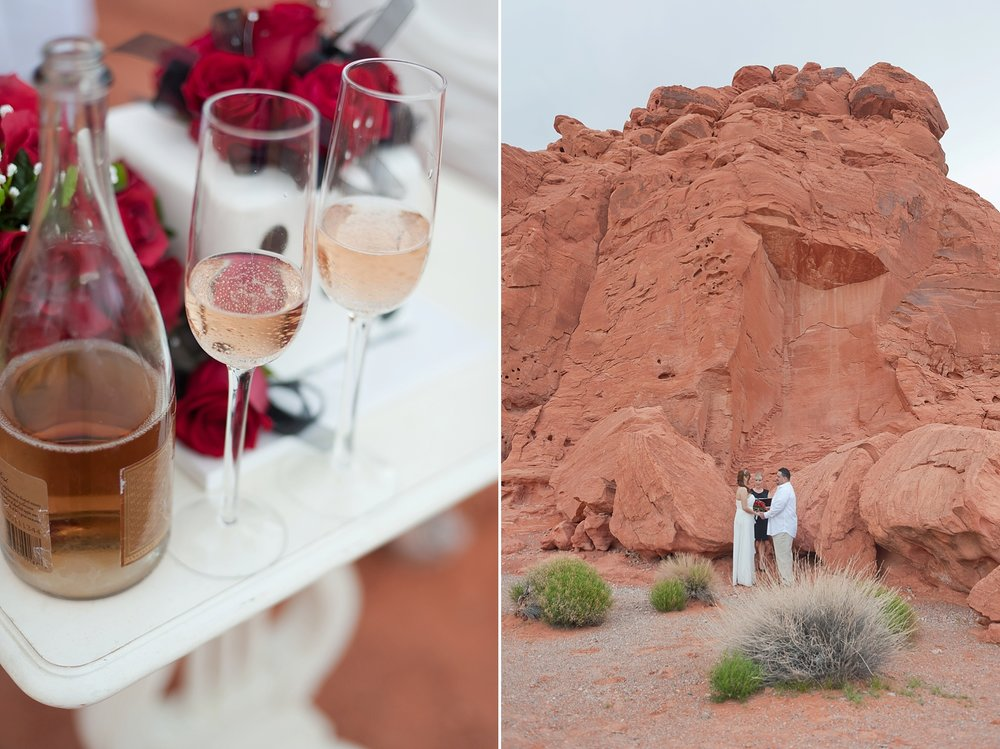 Location: Valley of Fire State Park | Officiant:  Peachy Keen Unions  | Cake:  Freeds Bakery