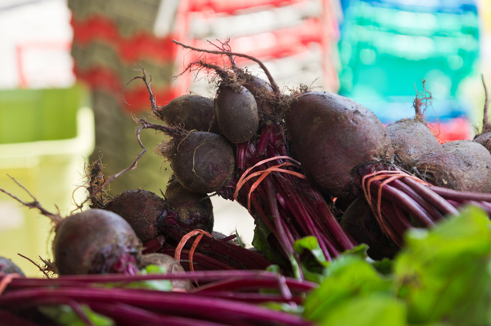 bunched beets, photo by Adam Ford