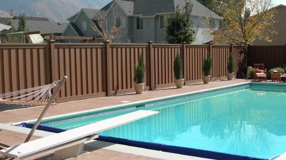 dark brown fence color fencing trex pine river group
