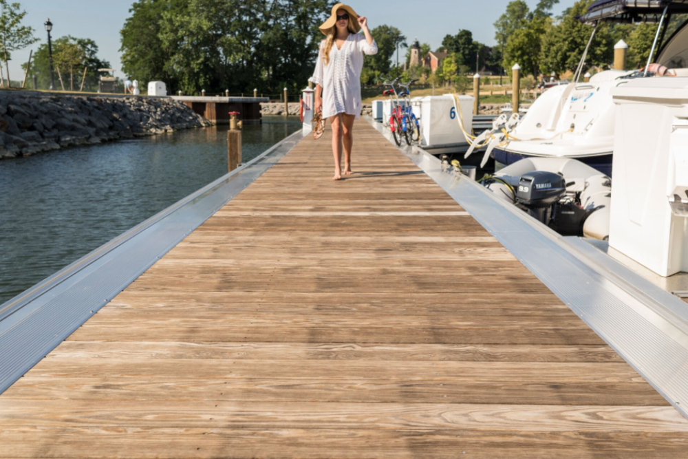 modified wood dock decking