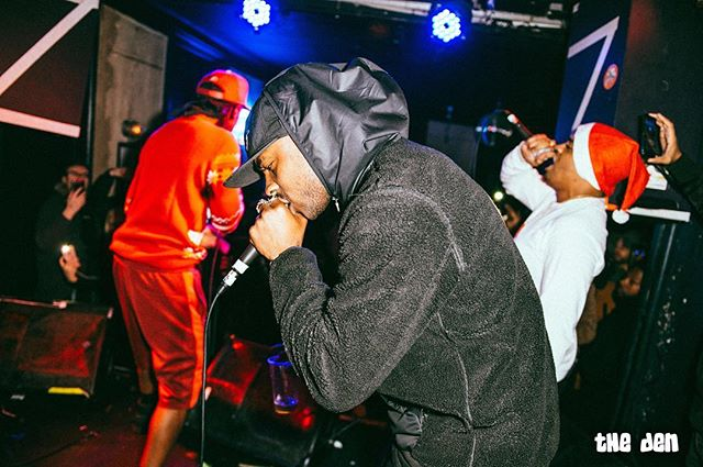 Skepta showing levels last night at The Den!  #LongLiveTheDen #BoyBetterKnow  Photography by @jordhughesphoto