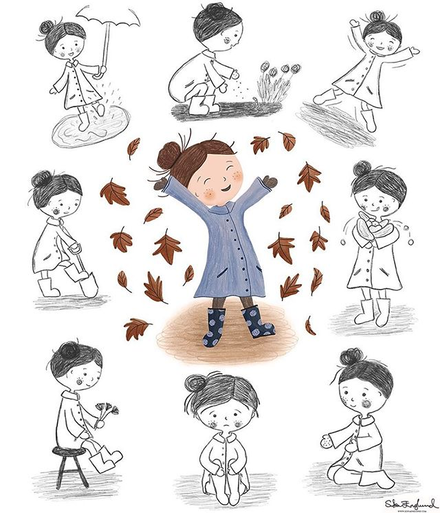 My character is coming to life 🙂 This is my assignment for week 3 of 'Illustrating Children's Books' with @makeartthatsells: poses. Most of the poses are based on scenes in the text ('Grandma's Garden' by Zoë Tucker). It's such a beautiful text and I can't wait to get started on environments this week! 😊 . . .  #character #characterdesign #makeartthatsells #MATSkidbook #matsicb5 #kidlit #kidlitart #picturebookart #picturebooks #picturebookillustration #illustrator #illustration #childrensbooks #childrensbookillustration