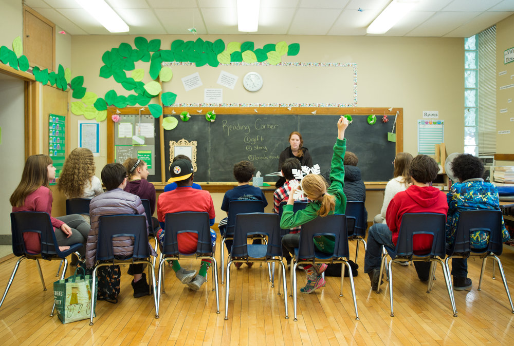 Group of Children Learning at Vine Academy