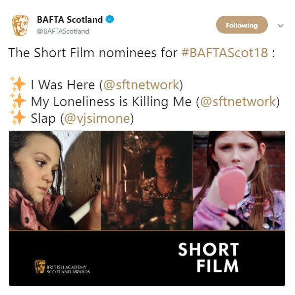 Excited to announce the two SFTN films I shot have both just been nominated for Scottish BAFTAs! Massive congrats to the teams & everyone involved 🍻 . . . . . #BAFTAScot18 #bafta #baftascotland #nominee #nomination #bestshortfilm #scottishfilm #scottishshorts #sftn #creativescotland #bfinetwork #shortfilm  #cinematographer #dop #directorofphotography