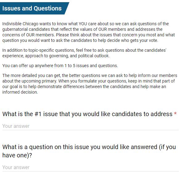 Gubernatorial Survey