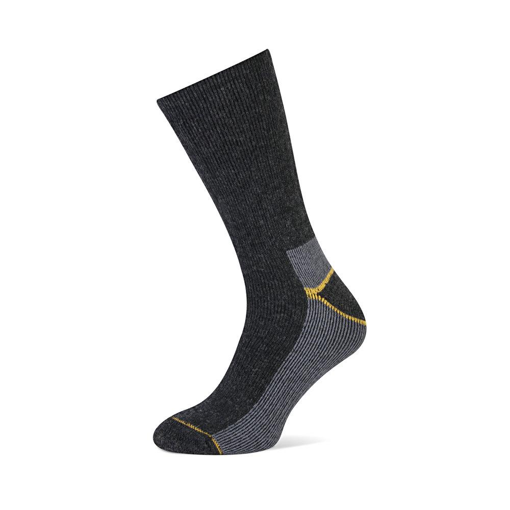 Thermo   • Comfortabele niet-voelbare teennaad • Door toevoeging van wol extra warm  • Houdt voeten droog, voorkomt blaarvorming • Met comfort boord • Versterkte hak en teen •  Beschikbaar in 1 kleur