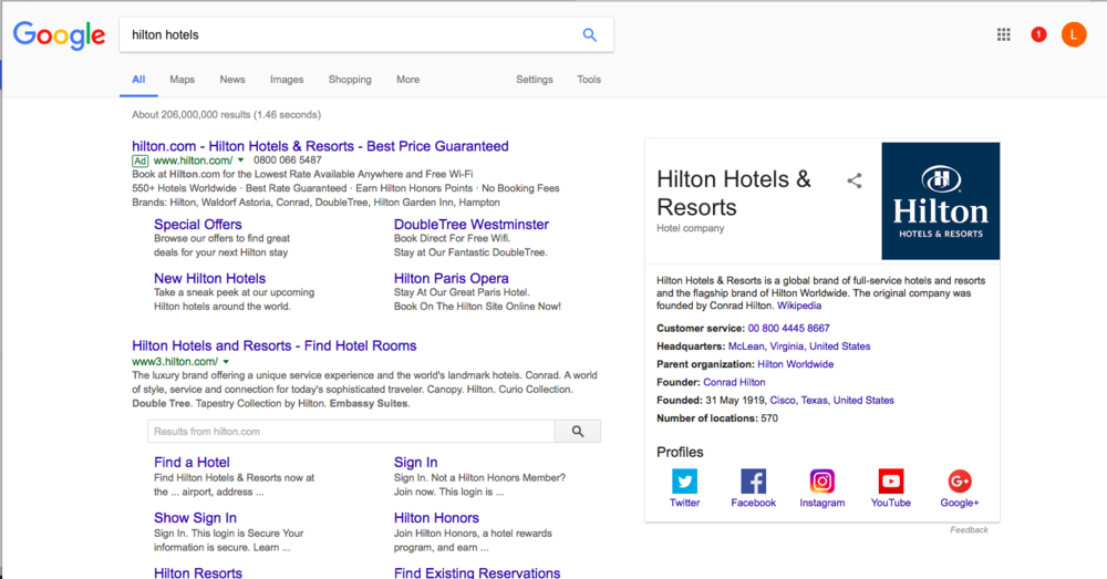Increase Direct Bookings - best price guarantee example Hilton Hotels