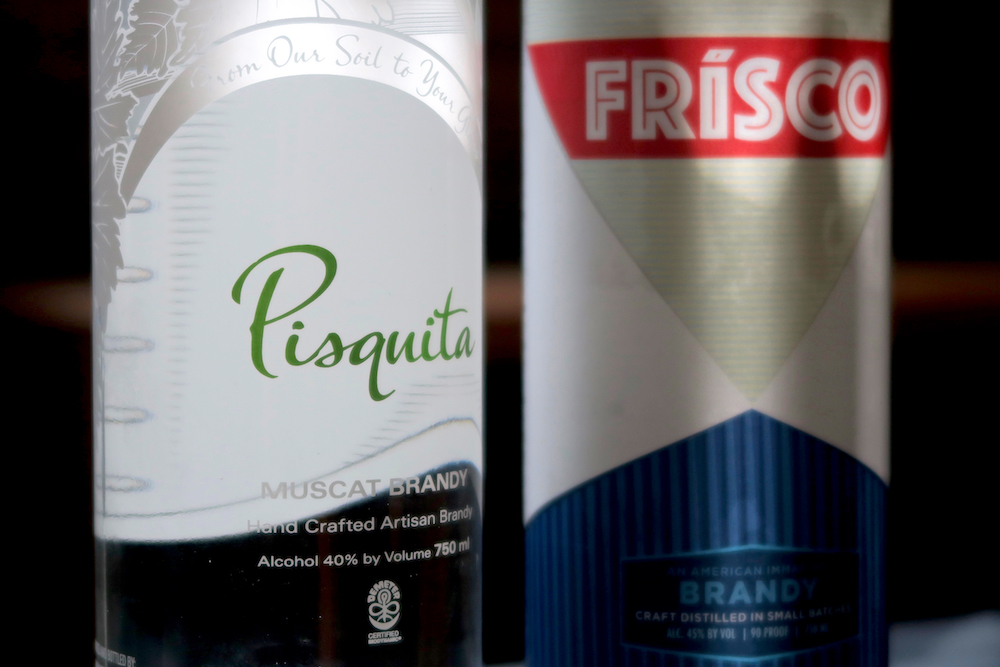 Pisquita and Frísco Brandy.
