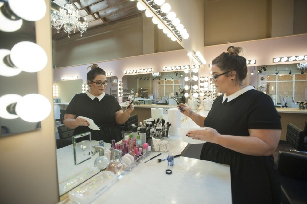 Meghan Hamilton, co-owner of GLAMbeauty Bar. Courtesy of The Columbian, 2015.